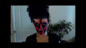 Halloween Makeup Application by Halloween Make Up Application Easy The Devil Youtube