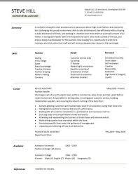 Sample CV targeted at fashion retail positions  Dayjob