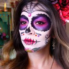 dead makeup halloween sugar skull makeup tutorial dia de los muertos halloween