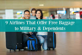 9 airlines that offer free baggage to military u0026 dependents