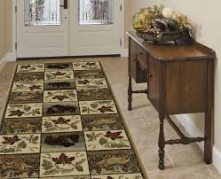 Log Cabin Area Rugs by Immersed In Nature Rugs