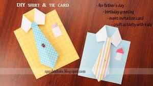 Handmade Farewell Invitation Cards Shirt U0026 Tie Greeting Card For Birthday Father U0027s Day Youtube