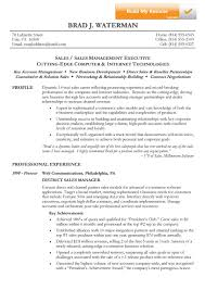 Sales Manager Sample Resume by Reverse Chronological Resume Example Sample