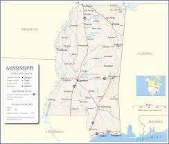 Usa States And Capitals Map by Mississippi Map Mississippi State Map Mississippi Road Map Map Of