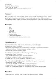 Research Analyst Sample Resume by Professional Epic Consultant Templates To Showcase Your Talent