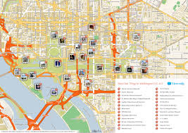 Map Of Washington Cities by File Washington Dc Printable Tourist Attractions Map Jpg