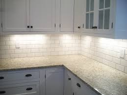 Small Kitchen Backsplash Ideas by Granite Countertop Subway Tile Backsplash Off White Cabinets For