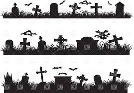halloween vector art halloween graveyard silhouette of cemetery vector image 39735