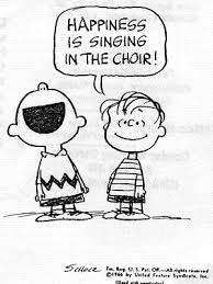 Charlie Brown singing comic