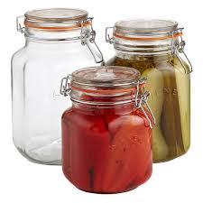 Glass Kitchen Canisters Airtight by Storage Jars Hermetic Glass Storage Jars The Container Store