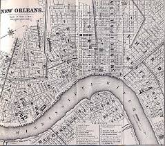 New Orleans Downtown Map by