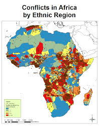 Map Of Kenya Africa by African Conflict And The Murdock Map Of Ethnic Boundaries