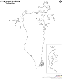 Blank Map Of Oceania by Blank Map Of Bahrain Bahrain Outline Map