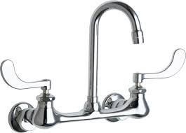 chicago faucets 631 abcp 2 2 gpm double handle wall mounted