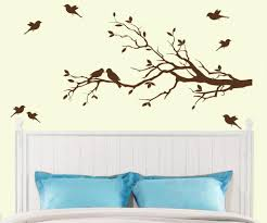 Bedroom Wall Decals Trees Bird Wall Art On Wallpaperget Com
