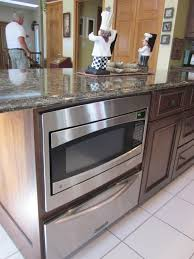 home accessories modern microwave drawer with kitchen cabinet