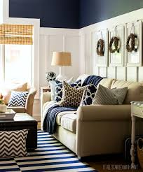 Living Room Colors With Brown Furniture Fall Decor In Navy And Blue Batten Living Rooms And Decorating