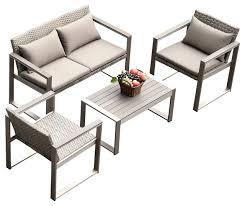 Modern Outdoor Sofa by Grayson 4 Piece Outdoor Sofa Set Contemporary Outdoor Lounge