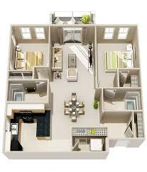 Floor Plan 2 Bedroom Apartment 50 Two