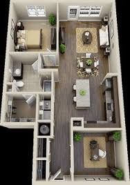 Two Bedroom Apartment Floor Plans 50 Two
