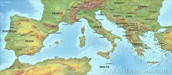 Map Of South Of France by Southern Europe Physical Map