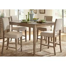 Five Piece Dining Room Sets Liberty Furniture Auburn 5 Piece Counter Height Gathering Table