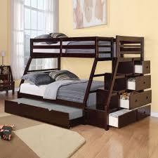 double bunk beds kid bedroom bunk bed with desk stunning dark