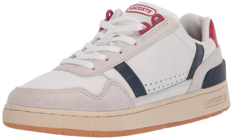 LACOSTE T-Clip 120 2 Women Off White/Navy/Red (7-39SFA00758R1) (7, Off White/Navy/Red)
