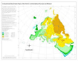 Map Of Europe And Africa by Bioclimatic U0026 Biogeographic Maps