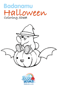 badanamu halloween coloring sheet get your crayons ready and