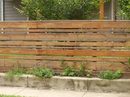 Wood Slat by Horizontal Wood Slat Fence With Concrete Base Totally Different