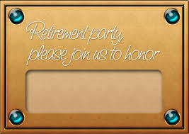 Retirement Function Invitation Card Appealing Retirement Invite Cards 15 With Additional Unique Baby