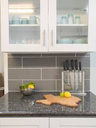 Kitchen Stunning Grey Backsplash For Elegant Kitchen Idea - Ceramic tile backsplash