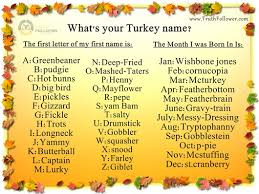What Is Thanksgiving To You What U0027s Your Thanksgiving Turkey Name