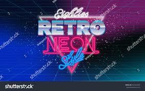 80s eighties retro neon style banner stock vector 604544468