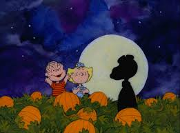 halloween parade background and sally mistake snoopy for the great pumpkin