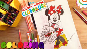 mickey mouse clubhouse coloring pages minnie mouse youtube