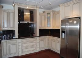 Dark And White Kitchen Cabinets Furniture Traditional Kitchen Design With Cozy Tile Flooring And
