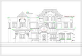 2d elevation and plan of 4bhk luxury house 4198 sq ft kerala