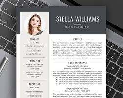 Professional Resume Template  Creative Resume  Modern Resume  Instant Download  Free Cover Letter  Word  CV Template  Mac  PC  Anastasia