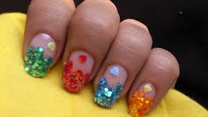 big glitter nail art designs colorful nails tutorial youtube