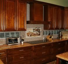 Glass Kitchen Backsplash Kitchen Captivating Ideas For Kitchen Decoration Using Glass Tile