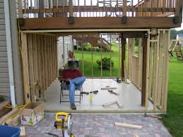 Enclosing A Pergola by Panofish Building A Shed Under A Deck