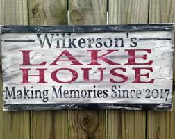 Personalized Signs For Home Decorating Lake House Sign Etsy