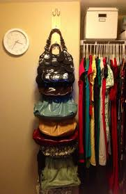 Space Saving Closet Ideas With A Dressing Table 25 Best Purse Storage Ideas On Pinterest Handbag Organization