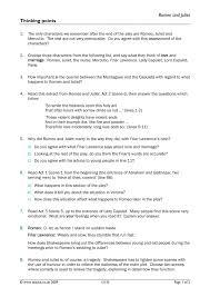 ks4 romeo and juliet teachit english