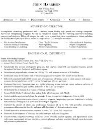 Sample Resume For Senior Manager by Senior Advertising Manager Sample Resume Uxhandy Com