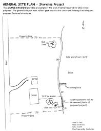 general site plan for a shoreline project nys dept of