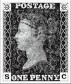 Penny Black Postage Stamp Rugs - Licenced by Royal Mail available.