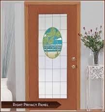 stained glass door film island oasis tropical palm tree and beach stained glass design